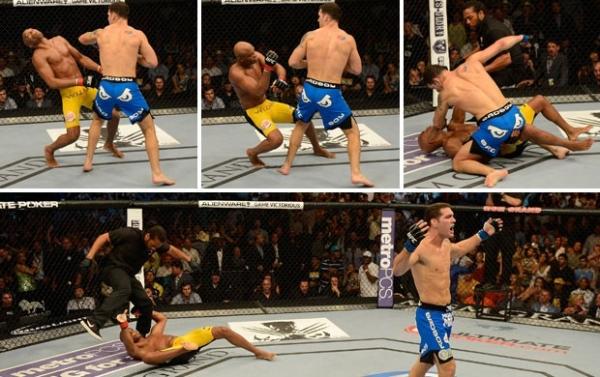 Weidman luta sério, faz o impossível e vence Anderson Silva por nocaute