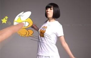 Camisetas japonesas interagem com smartphone e mostram animações