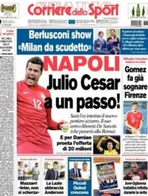 Julio César está perto de acertar com o Napoli,  dizem jornais italianos