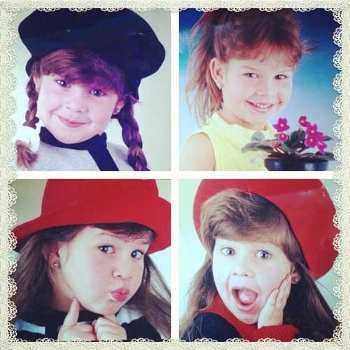 Atriz Fernanda Souza posta fotos de infância: