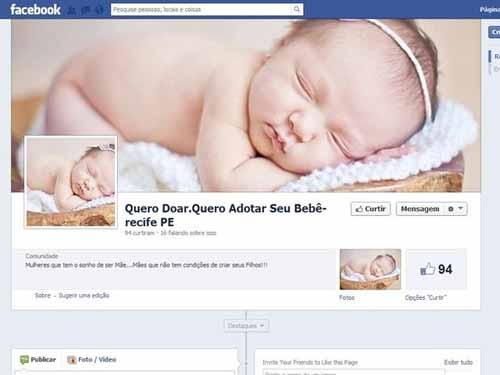 Ministério Público investiga um site que fazia ofertas de venda de bebês