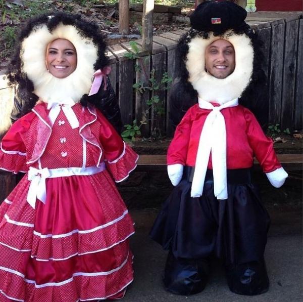 Kamilla e Eliéser curtem friozinho da serra gaúcha: