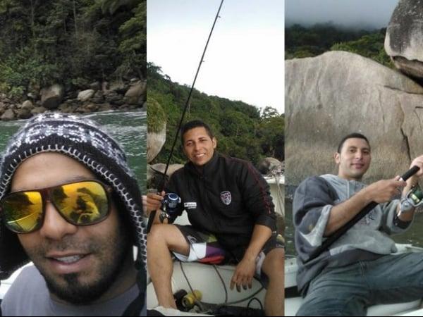 Grupo que sumiu no mar postou fotos durante a pescaria