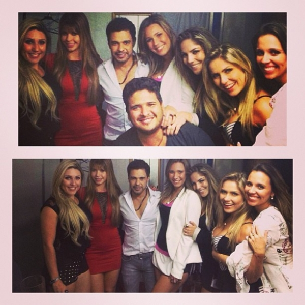 Zezé Di Camargo é tietado por Anamara e outras ex-BBBs em show