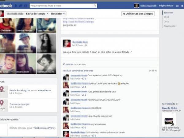 Polícia investiga foto de adolescente nua postada na web por ex-namorado