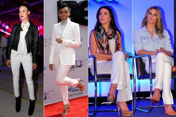 Carolina Dieckmann e mais famosas apostam em looks com calça branca