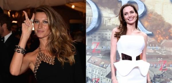 Gisele Bündchen lucra mais que Angelina Jolie segundo a