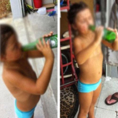 Pai posta uma foto de menina com 4 anos tomando cerveja causa polêmica