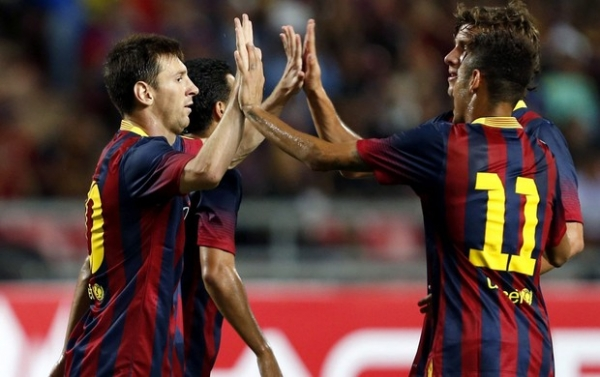 Neymar deve ser titular ao lado de Messi na final da Supercopa hoje