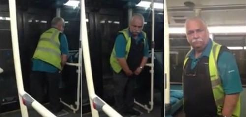Motorista é flagrado urinando dentro de ônibus londrino