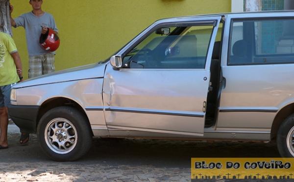 Motorista desatenta abre porta do carro e provoca acidente com moto em Cocal