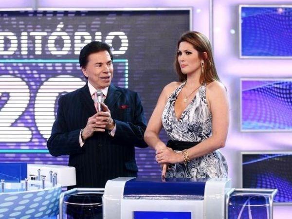 Silvio Santos chama Lívia Andrade de gordinha durante programa