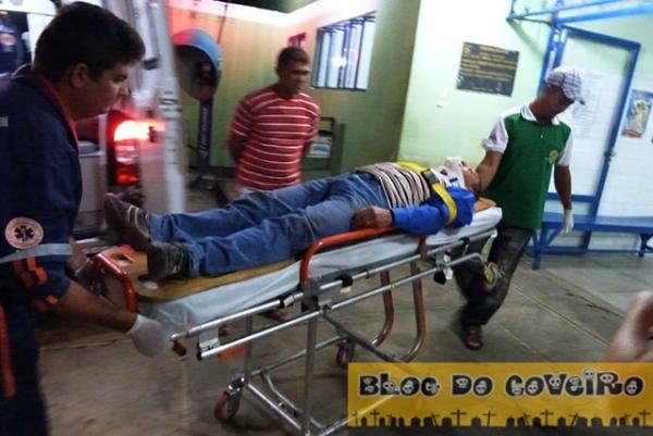 Motoqueiro fica gravemente ferido após bater em uma vaca na PI-211