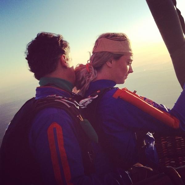 Juju Salimeni posta fotos antes de saltar de balão: