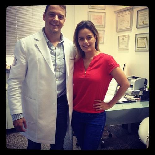 Luciele Di Camargo se consulta com ex-BBB Rogério Padovan, o doutor G