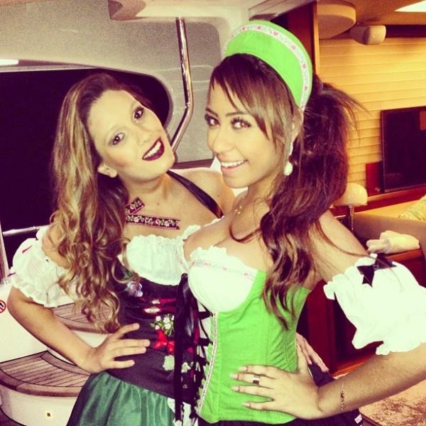 Ela não para! Depois do RiR, irmã de Neymar posa vestida de alemã