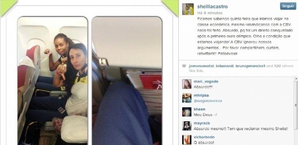 Sheilla dispara contra CBV após seleção viajar em classe econômica de avião