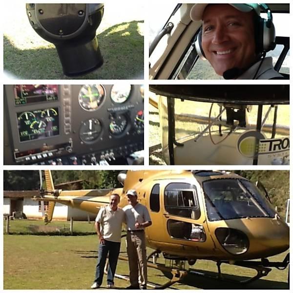 Helicóptero que Gugu ganhou da Record vai trabalhar para a concorrência