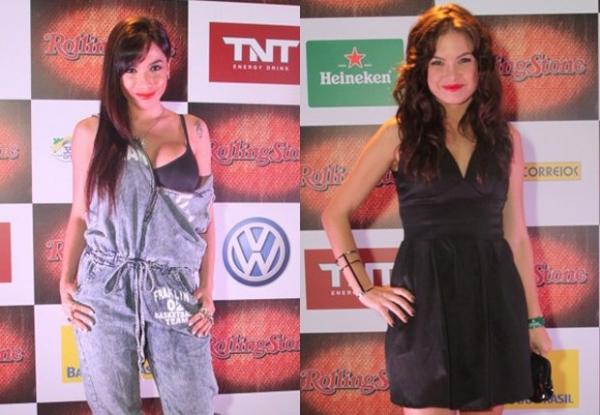 Anitta e Lua Blanco curtem show de rock durante evento no Rio