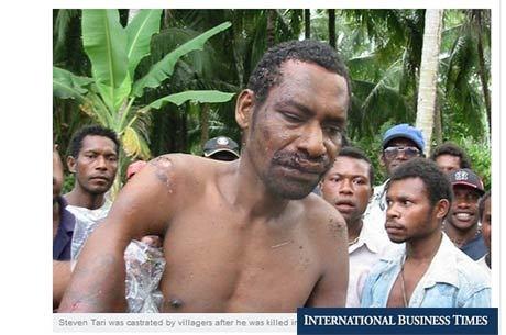 Estuprador é caçado, castrado e morto por quase 80 homens em Papua Nova Guiné