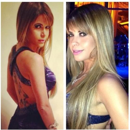 Ex-BBB Cacau usa vestido que deixa suas costas à mostra e posta foto