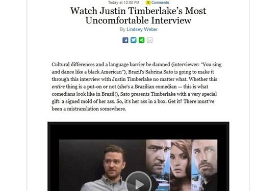 Sabrina Sato vira piada internacional ao doar bumbum à Justin Timberlake - Imagem 2
