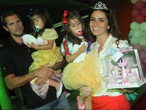 Giovanna Antonelli comemora aniversário das filhas gêmeas