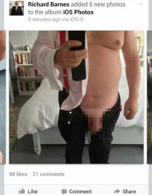 Ex-vice-prefeito de Londres exibe o pênis no Facebook