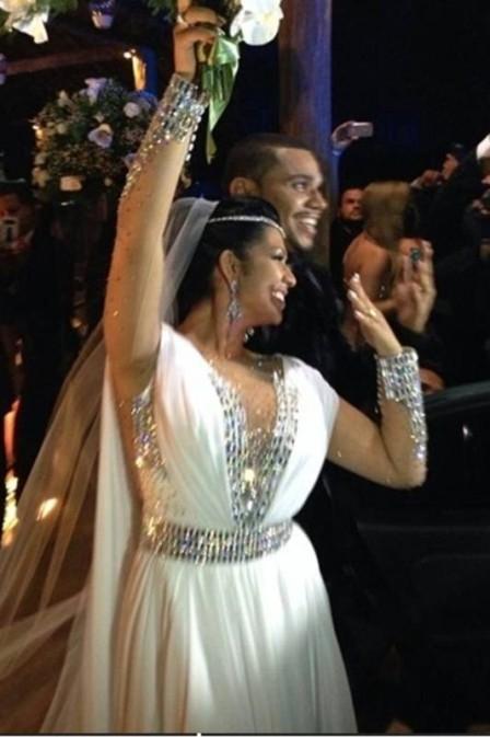 Moranguinho rebate críticas à sua festa de casamento com Naldo: ?Foi a noite perfeita?