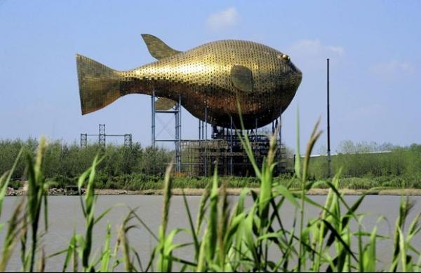China gasta R$ 25,5 milhões para erguer escultura no formato de baiacu