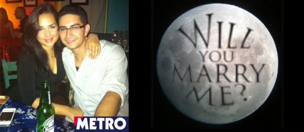 Astrônomo usa Lua para pedir namorada em casamento