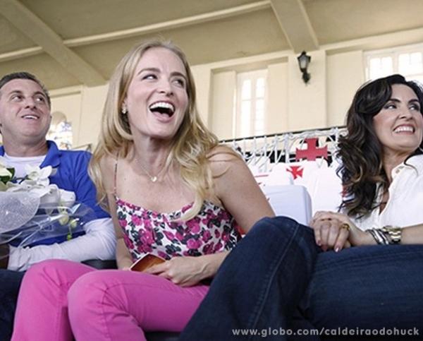 Huck tenta enganar Angélica e ganha festa surpresa aos 42 anos