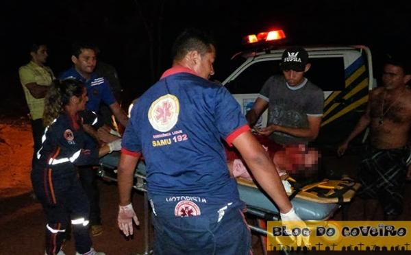 Colisão frontal entre duas motos deixa dois gravemente feridos