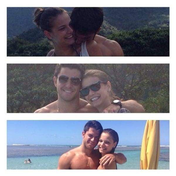 Milena Toscano comemora três meses de namoro e se declara