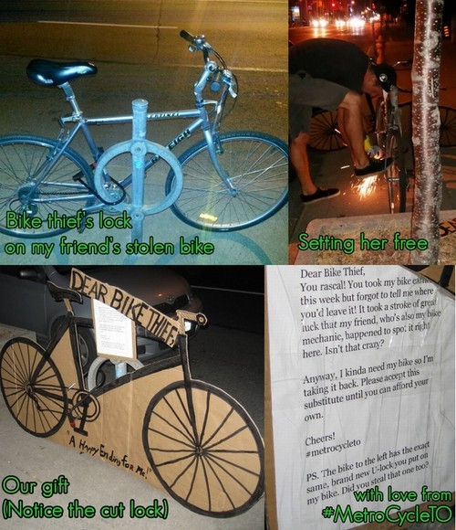 Homem recupera bicicleta furtada e deixa
