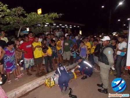 Vigia de escola municipal sofre grave acidente de moto em Avenida de Esperantina
