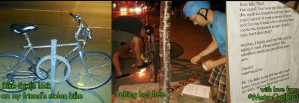 Canadense recupera bicicleta e deixa réplica de papelão para ladrão