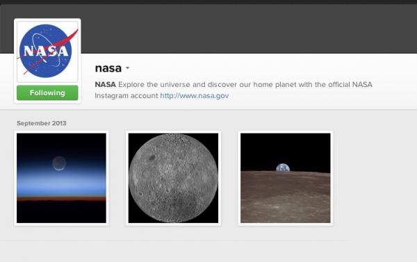 NASA vai usar Instagram para compartilhar imagens do espaço