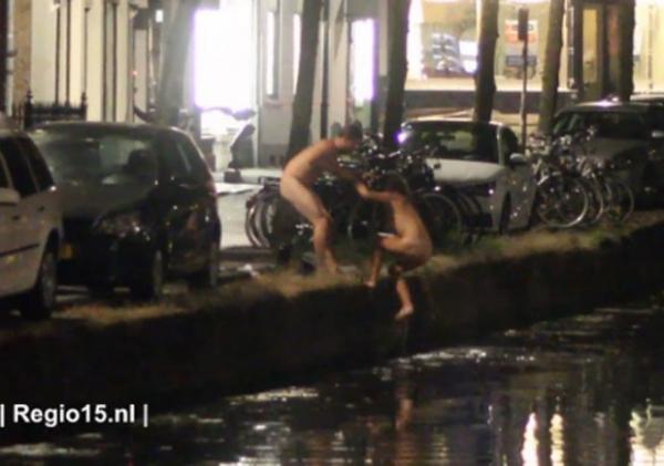 Casal é filmado fazendo sexo em canal em uma cidade na Holanda; fot