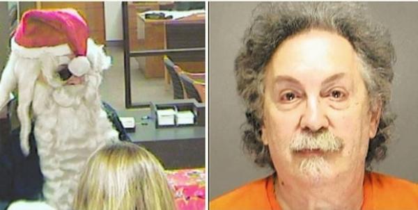 Papai Noel é preso após roubar banco nos EUA