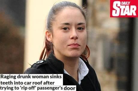 Americana bêbada tenta arrombar carro na dentada
