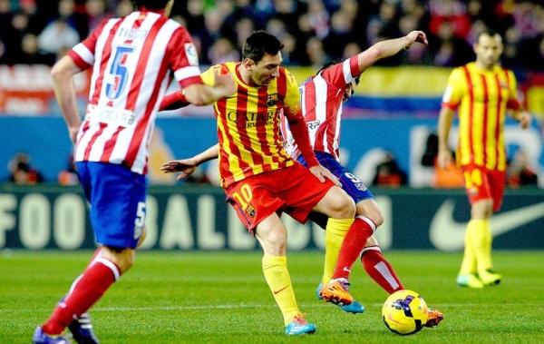 Barcelona usa Neymar e Messi apenas no segundo tempo e empata com Atlético e seguem juntos