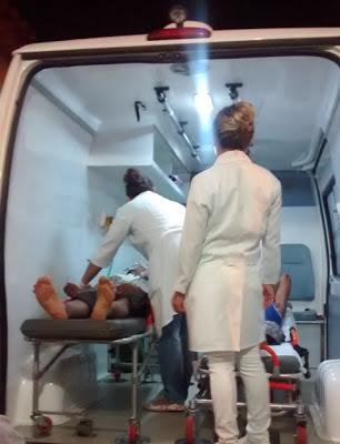 Colisão entre motos deixa dois jovens gravemente feridos em Fronteiras