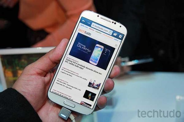Galaxy S5 pode ser lan軋do em mar輟 com tela Quad HD de 5,25 polegadas