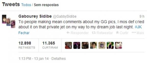 Pá! Gabourey Sidibe manda resposta irônica após críticas sobre seu peso