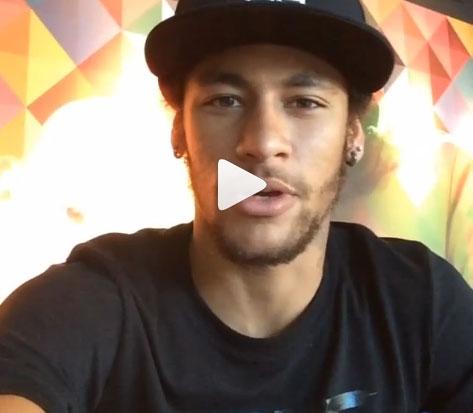 Neymar posta vídeo na internet e acalma torcedores: