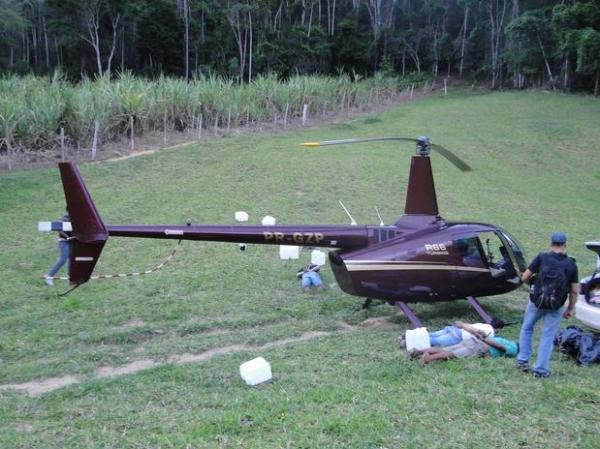 Apreendido com cocaína, helicóptero dos Perrella deverá ser confiscado