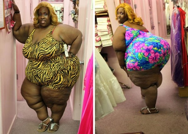 Mulher de 203 kg afirma ter o maior bumbum do mundo e diz que os homens adoram