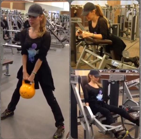 Thalia mostra corpo sarado e como ficou mais forte em quatro meses