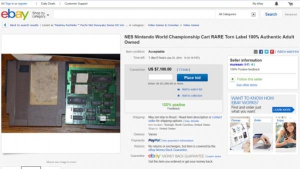 Cartucho de Mario, um dos mais raros do mundo, está à venda no eBay
